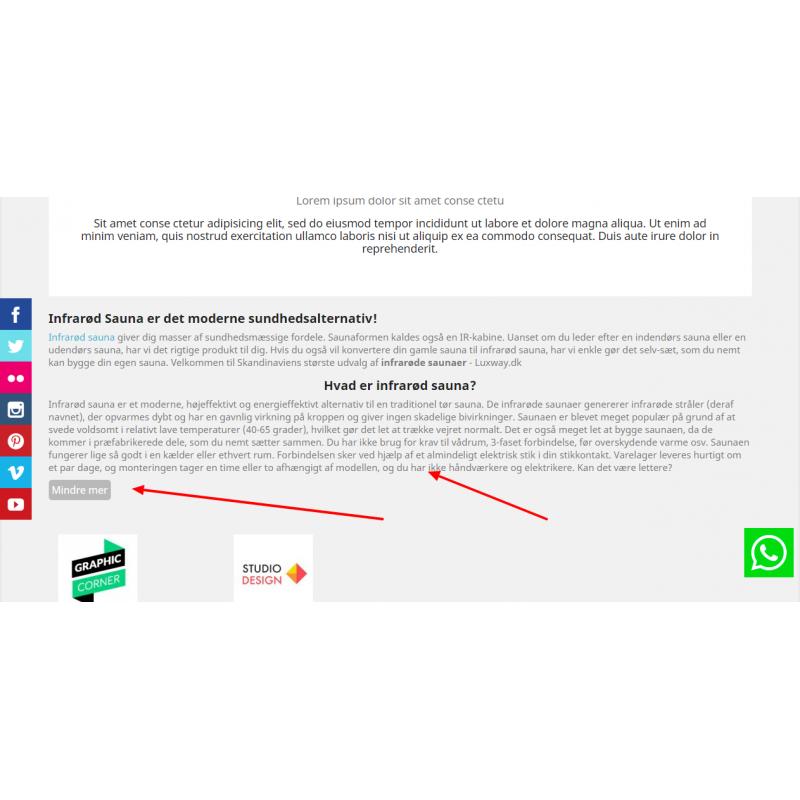 HTML  BOX - SEO , See more and Less