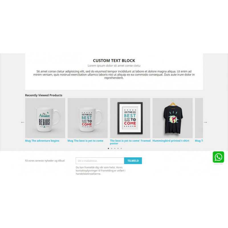 Recently Viewed Products - Carousel and Responsive Module PrestaShop